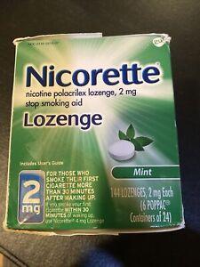 New Nicorette 144 Lozenges Mint 2mg Each, Exp. Date: 12/2021