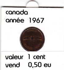 C 1 ) pieces de 1 cent  canada 1967
