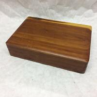 Vintage Wood Keep Sake Jewelry Trinket Box Hinged Lid