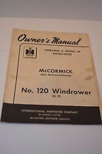 Owner's Manual IH McCormick No.120 Windrower - 10'
