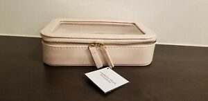 Pink Cosmetics Bag For Women~Created for Macy's Clear Cover Hard Bag Dual Zipper