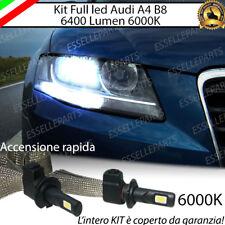 KIT LED H7 AUDI A4 B8 6000K XENON NO AVARIA ANABBAGLIANTI 6400 LUMEN NO AVARIA