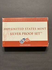 2009 US Mint Silver Proof Set-Quarters-Cent-Presidential $1 Coin Proof Set