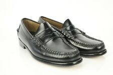 L.L. Bean Slip On Shoes Penny Loafers Black Leather Upper & Soles Dress Casual 7