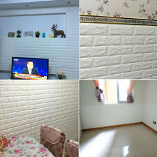 3D Wall Sticker Decal Panels Tile Brick Foam Self-Adhesive TV Sofa Background