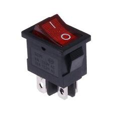 Interrupteur à Bascule 12V On-Off Rouge Lumineux 21x15mm