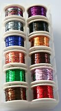 Fly Tying Lurex tinsels 12 colours in a box