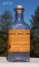 NICE antique PACIFIC PHARMACY - 1894 bottle EUREKA CAL - Agents OWL DRUG Co