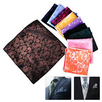 10x Men Rayon Handkerchief Silk Pocket Square Paisley Polka Hanky Wedding Party