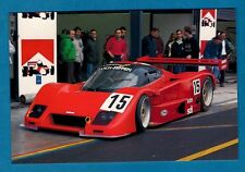 Sports Car Postcard ~ Lancia LC2: Team Veneto : Monza 1991 - Niccolini of Italy