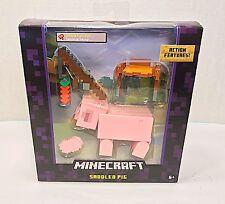 Minecraft Survival Mode Series 4 Saddled Pig Figure  - New Hard to Find