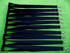 10 x BLACK LANYARDS NECK STRAPS FOR VINYL PRINT, SAFETY BREAK CLIP 25mm