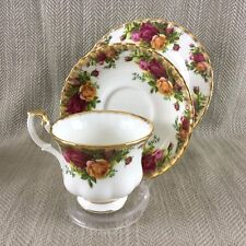 Royal Albert Old Country Roses Teacup & Saucer Trio Cup Plate Set