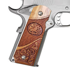 1911 Full Size Grips Colt Sig Kimber S&W Para Etc Solid Rosewood Scroll & Eagle