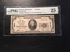 New listing National Bank Note Waseca Minnesota Pmg25 Vf Minor Rust