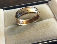 Lovely Quality Ladies Vintage Full Hallmarked 9CT Gold Patterned Band Ring - N