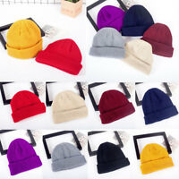Unisex Hip Hop Beanie Hat Warm Ribbed Winter Turn Ski Fisherman Docker Hat A