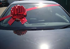 """BIG GIANT CAR BOW (12"""") for Cars, Large Birthday & XMAS Gifts - METALLIC RED"""