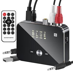 Wireless Receiver 5.0 Bluetooth Empfänger Transmitter Stereoanlage 3,5mm Klinke