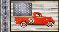 Robert Kaufman Country Red Truck Panel 24in repeat AWHD-18232-276 multi fabric
