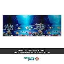 FONDO DECORATIVO de ACUARIO  longitud 60cm altura 30cm peces pecera D451