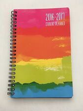 2016-17 Spiral Student Daily Weekly Planner Monthly School Rainbow gay pride