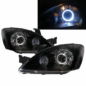 LANCER 03-07 4D/5D Guide LED Angel Eye Headlight Black EUROPE for Mitsubishi RHD