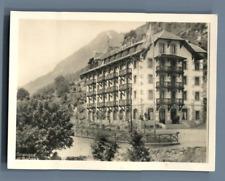 Yvon, Suisse, Hôtel des Granges  Vintage silver print. Switzerland. Valais.