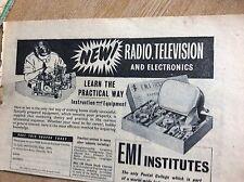 q2-2 ephemera 1950s advert emi institutes radio tv