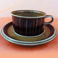 """KOSMOS by Arabia Finland Wide Cup & Saucer 4"""" at the lip NEW NEVER USED Finland"""