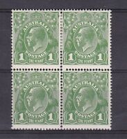 G68/69) Australia 1924 1d Green Single wmk. 2 x blocks of 4