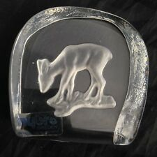 NYBRO Swedish Crystal Art Glass Paperweight DEER / FAWN