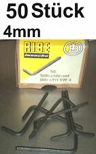 50x CHIAVE PIN 4mm RIBE DIN 6911 INBUS RUBINETTO CHIAVE A BUSSOLA