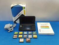 CONSOLA NINTENDO 3DS XL AZUL NEGRO CARGADOR X12 JUEGOS DS CAJA MANUALES