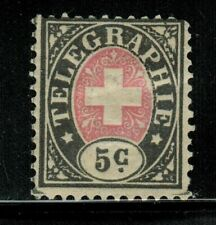 Switzerland 5c Telegraph Stamp 1861-68 MH