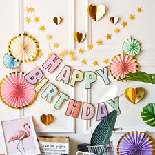 Paper Happy Birthday Banners Kids Birthday Party Decoration Hanging DecoratiFCA