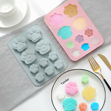 Silicone 10 Dog Cat Paw Chocolate Mould Cookies Cake Ice Cube Tray Baking Mold