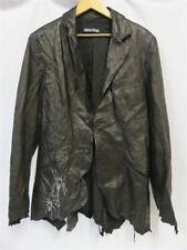 Mens Gothic Black Leather Jacket by Jaded By Knight (Size XL)