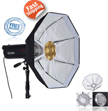 "65 cm 26"" Studio Octogonal Diffuseur Réflecteur Softbox + Beauty Dish Bowens Mount Kit"