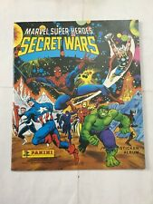 SECRET WARS  MARVEL SUPER HEROES  ALBUM NON COMPLETO IN INGLESE PANINI