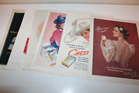 Vintage lot of magazine advertisements  Tobacco Cigarette 1930s-40s