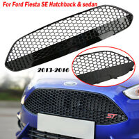 Front Grill Grille Honeycomb Gloss Black Trim For FORD FIESTA MK8 SE 2013-2016