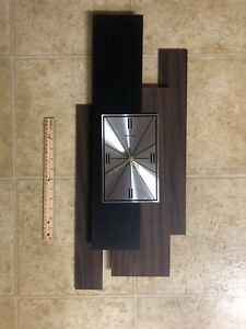 Mid Century Modern VINTAGE WALL CLOCK VERICHRON Floating Panel
