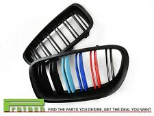 M Tri 3 Color Matte Black Grille fit BMW F10 Sedan 528i 535i 550i M5 2011+