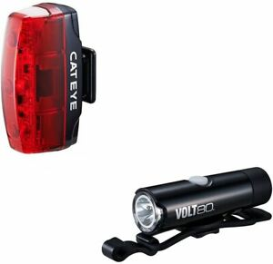 CatEye Volt 80 Front/Rapid Micro Rear USB Rechargeable Light and Reflector Set