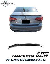 Carbon Fiber Trunk Spoiler Lip For 2011-2018 VW Volkswagen Jetta Sedan Type B