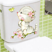 Durable Bathroom Toilet Decoration Seat Cat Wall Stickers Decal Home Decor HS3