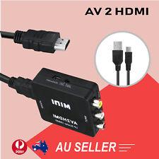 1080p Mini AV 2 HDMI Converter RCA to High Definition Upscaler Nintendo SNES N64