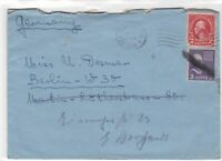 united states 1938 new york cancel to germany stamps cover ref 21282