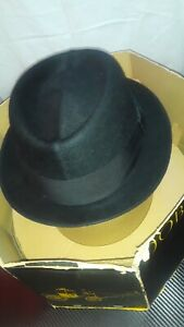 Stetson Hat Royal Deluxe Size 7 3/8 Black Fedora-like Style Extra Hump Vintage